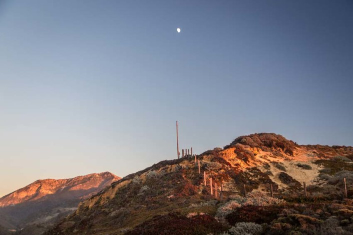 Big Sur moon rise